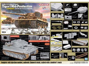 Dragon 1/35 Sd.Kfz.181 Pz.Kpfw.VI Ausf.E TIGER I MID PRODUCTION w/ZIMMERIT