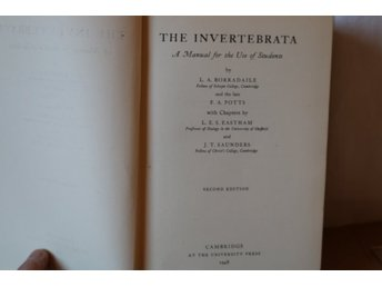The Invertebrata Manual Students Cambridge University1948