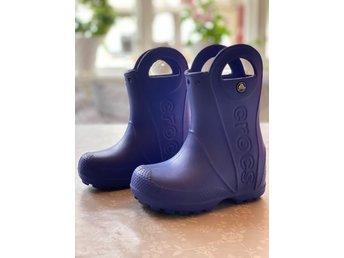 Crocs Kids Handle It Regnstövel, Cerulean Blue