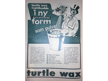 TURTLE WAX TIDNINGSANNONS Retro 1963