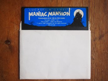 - MANIAC MANSION till COMMODORE 64  - originaldiskett (fungerar)