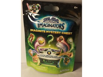 Skylanders imaginators imaginite mystery chest oöppnad grön påse