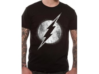 The Flash - Logo Mono Distressed  T-Shirt Small