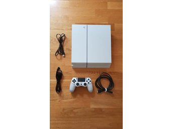Playstation 4 vit 500gb + Uncharted the Nathan Drake collection