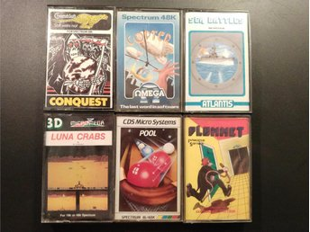 6st Spectrum Spel Nr3 - Sinclair Spectrum | Luna Crabs + Copter + Conquest