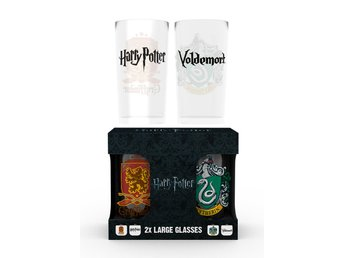 Glas (set med 2) - Harry Potter Crests