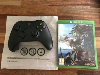 Xbox One Handkontroll V2 + Monster Hunter: World