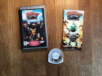 RATCHET & CLANK SIZE MATTERS PSP PLAYSTATION PORTABLE SVENSK TEXT I SPELET