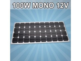 Solpanel Solcell Solfångare 100W A Grade Monocrystalline NY*