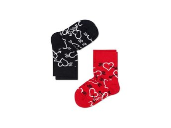 Happy Socks 2-Pack barnstrumpor Arrow & Heart Socks (4-6 år)