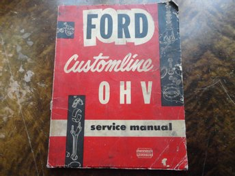 Ford Customline Service manual 1955-1956