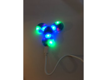 Fidget Spinner LED Högtalare Bluetooth.