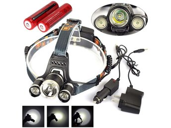 6000 LM 3x CREE XML T6 LED Headlamp Headlight Rechargeable Head Torch