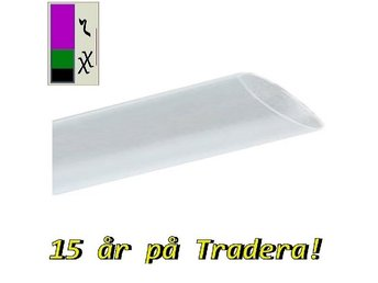 8 meter krympslang , 9,5 mm - transparent