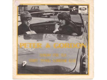"PETER&GORDON - Sunday For Tea  7"" Singel  Sverige  Beatles"