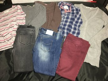 Klädpaket 8 delar stl 146/152, I Dig Denim, Scotch R´belle, Name It, H&M