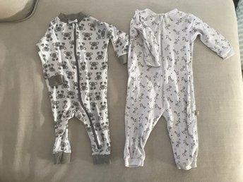 Helt nya 2 söta pyjamasar stl 62 ~ djungel 6f6dbfa499fd7