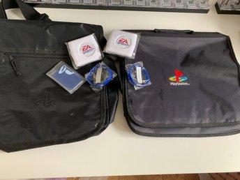 Playstation merchandise väskor mm