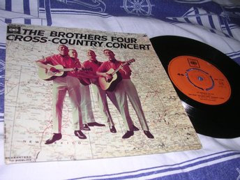 The Brothers Four Cross-Country Concert (EP) VG+/VG+