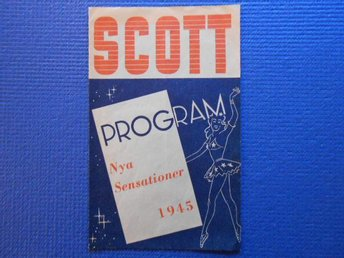 Program Cirkus Scott 1945 - Nya Sensationer