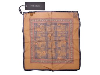 Dolce & Gabbana - Brown Silk Handkerchief