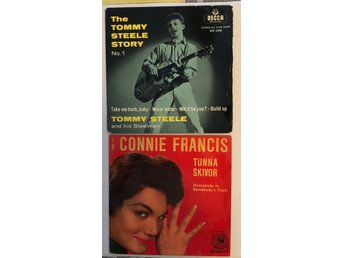 Skivfodral Tommy Steele, Connie Francis.