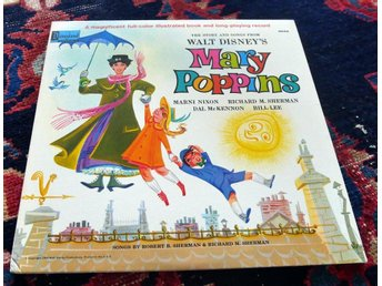 WALT DISNEY Mary Poppins US Disneyland 1964 Mint - + Bok