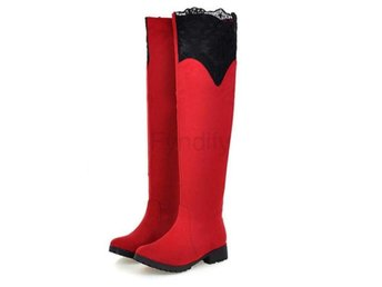 Dam Boots Woman Fashion Autumn Winter Botas Mujer Red 40