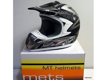 HELT NY hjälm MT MX-1 MC / moped / scooter / motorcykel  / cross  stl S M 55-58