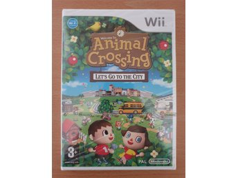 Animal Crossing lets go to the city Wii NYTT, Inplastad