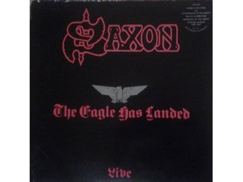 Saxon‎  titel*  The Eagle Has Landed (Live)* Heavy Metal UK LP