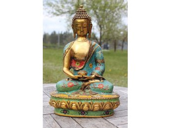 Qing Dynasty Cloisonne Buddha figure bronze bronce brass sitting china buddha - Gushi - Qing Dynasty Cloisonne Buddha figure bronze bronce brass sitting china buddha - Gushi
