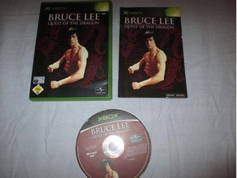 BRUCE LEE QUEST OF THE DRAGON - FULLT KOMPLETT - XBOX
