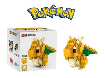 Pokemon Figurer - 3D Lego Pyssel - Dragonite