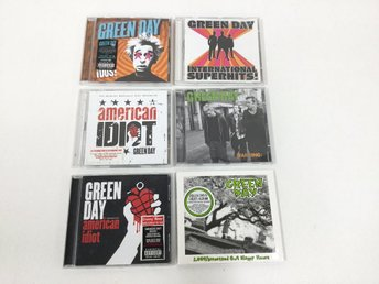 Green Day-paket 6 st CD-skivor