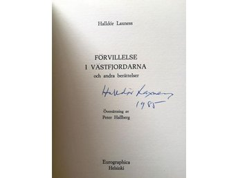 Halldor Laxnes SIGNERAD BOK Limited Signed Edition EUROGRAPHICA VERY RARE!!!