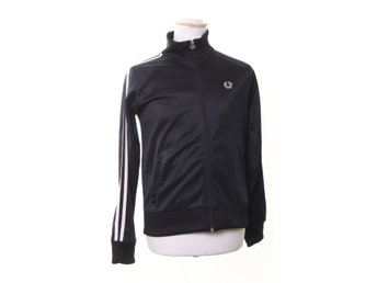 Fred Perry, Zipper, Strl: 42, Mörkblå/Vit