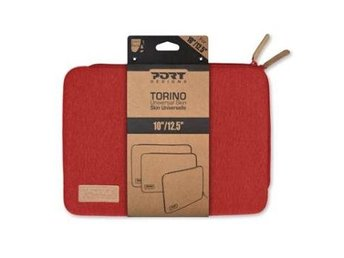 "PORT Designs 10-12"" Universal Torino Laptop Sleeve Red, 140405"