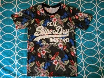 Blommig Superdry - T-shirt - Small (S)