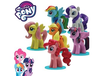HASBRO MY LITTLE PONY Komplett 6 st FIGURE Collection 3D figurine Från EU-lager