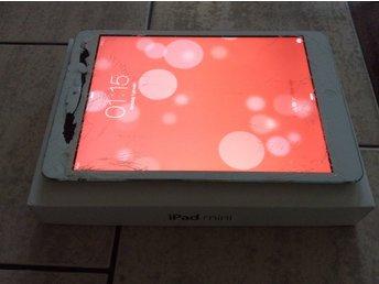 IPad mini 16GB vit/silver, sprucket glas (325283411) ᐈ Köp