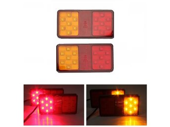 Pair 12V LED Rear Trailer Truck Tail Brake Stop Indicator...