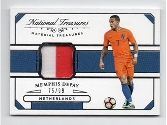 2018 Panini National Treasures Materials Memphis Depay /99