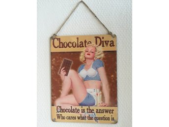 "Retro metallskylt ""Chocolate Diva"""