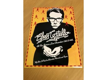 ELVIS COSTELLO THE BOTTOM LINE N.Y 1977 GLOSSY PHOTO POSTER