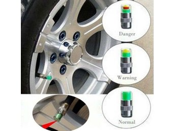 4 x Car Valve Tyre Caps Dust Monitor