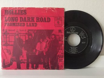 "HOLLIES Long Dark Road / Promised Land 7"" singel"
