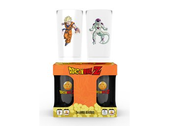 Glas (set med 2) - Dragon Ball Z Goku Vs Frieza