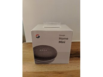 Google Home Mini, grå. Ny - oöppnad
