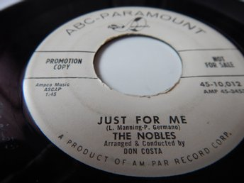 The Nobles - Just for me   ------   US orginal !!!